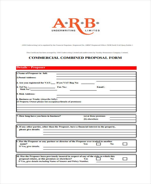 9 construction proposal form samples free sample example format