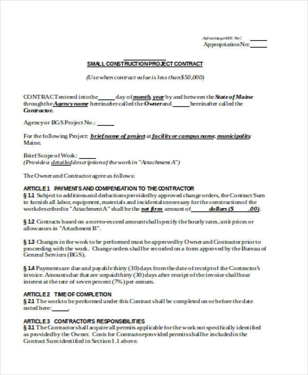 Best Construction Contract Agreement Contemporary  Best Resume