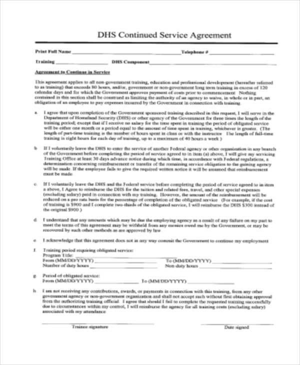 Format Of Service Agreement Microsoft Office Templatesservice