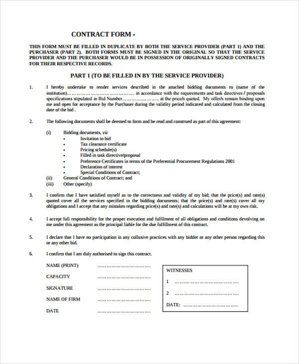 contract agreement form in pdf