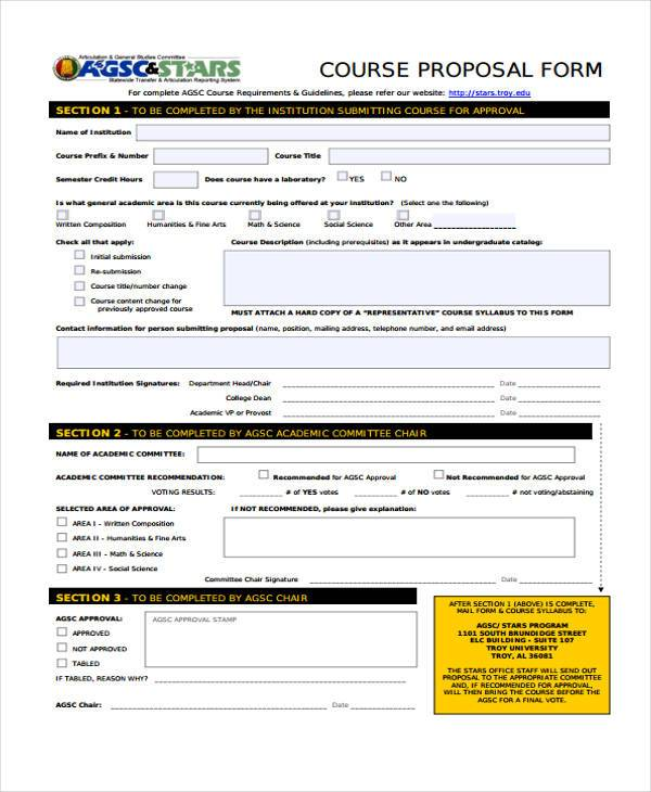 course approval proposal form