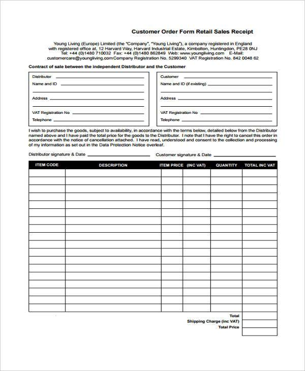 Receipt Form in PDF – Goods Receipt Form
