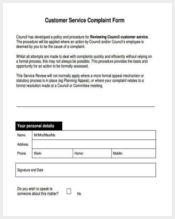 customer service complaint form2