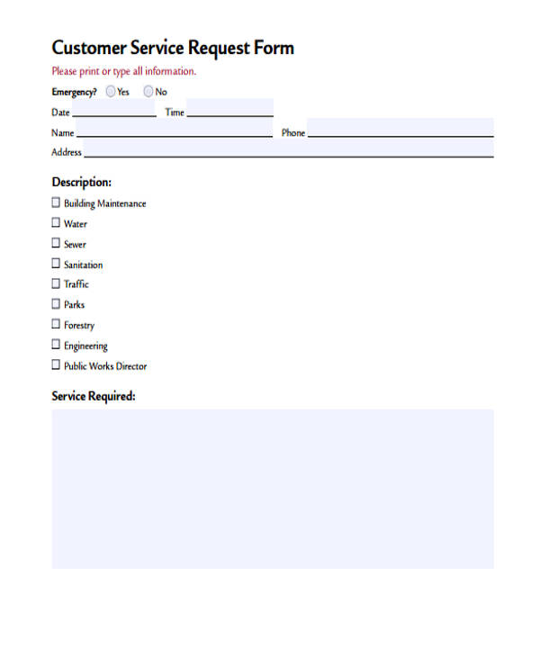 customer service request form1