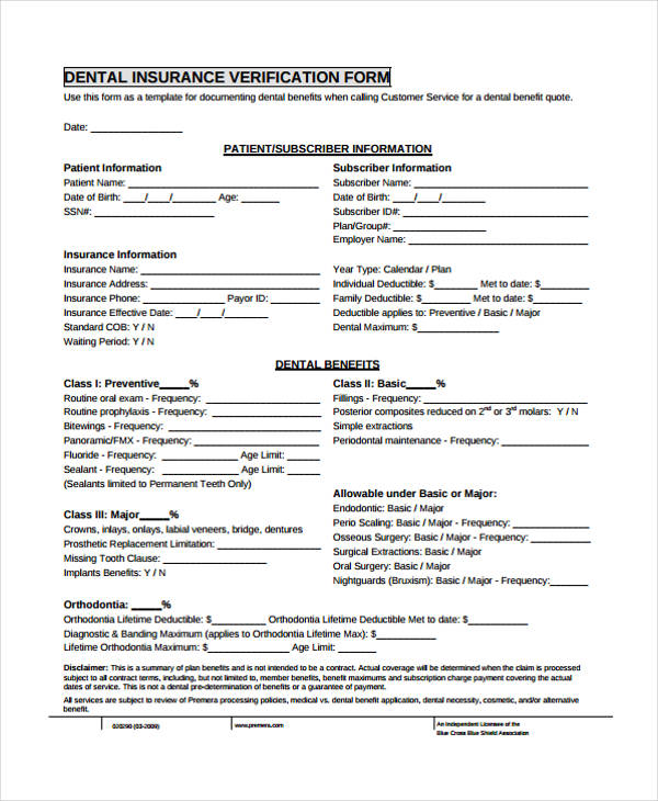 Free 32 Verification Forms In Pdf Excel Ms Word