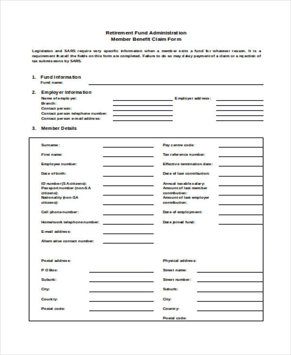 disability benefit claim form1