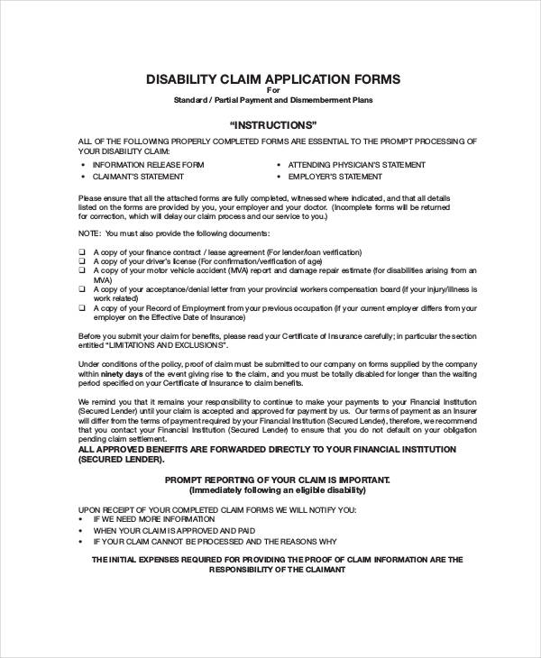 disability claim application form1