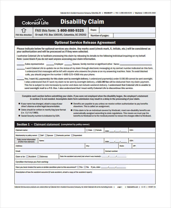 disability insurance claim form3