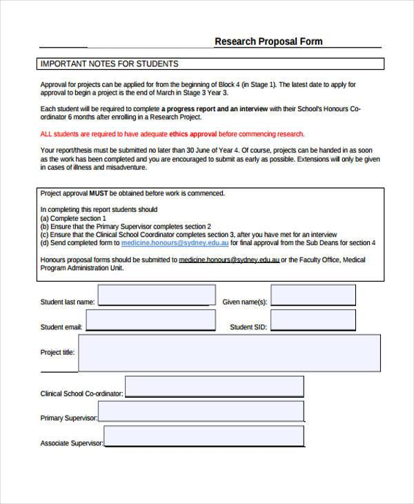 doctors research proposal form