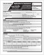 dollar general application form