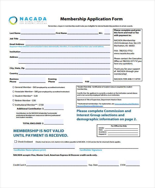 education membership application form1