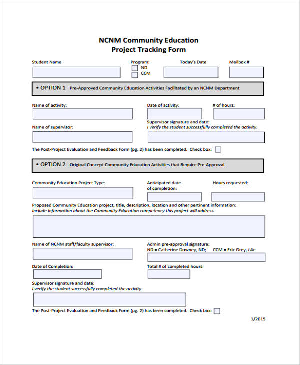 35 Tracking Forms in PDF