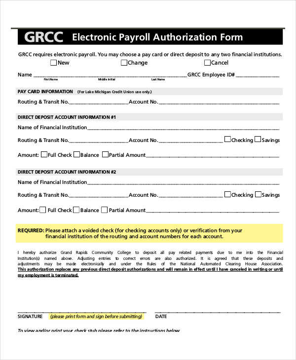 electronic payroll authorization form1