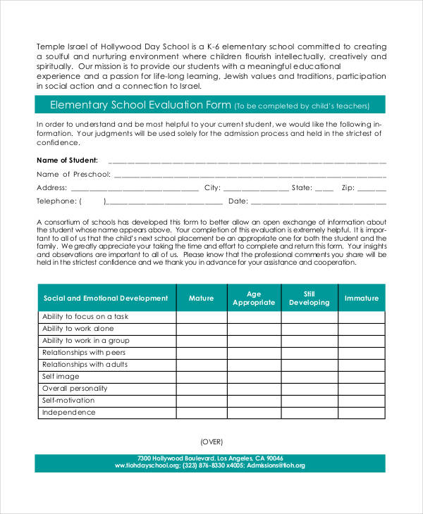 free 39  student evaluation forms in pdf