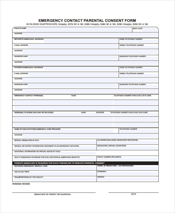 emergency contact parental consent form1