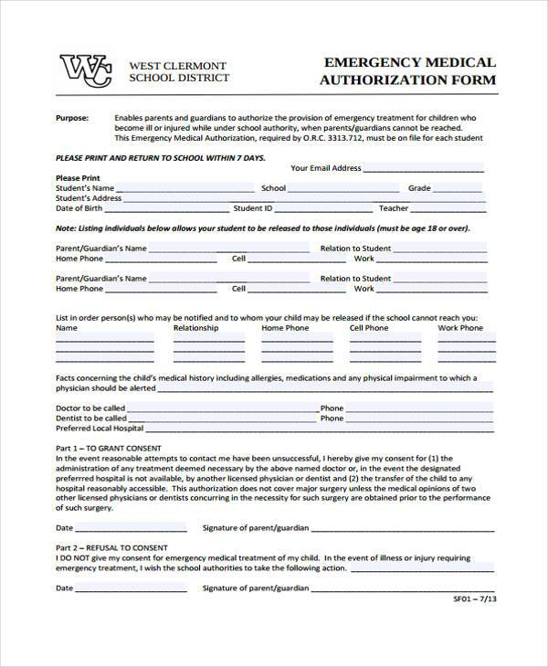 Medical Form Templates