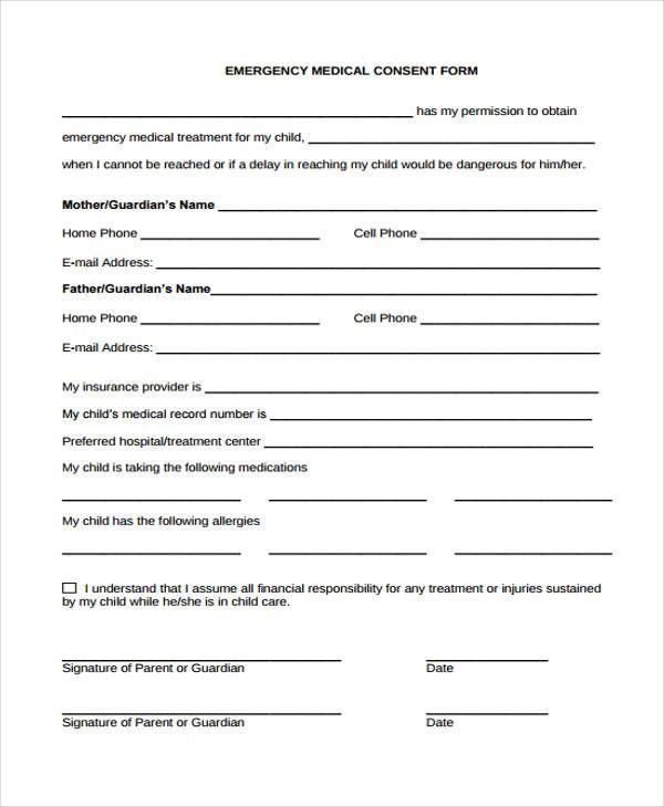 emergency medical consent form1