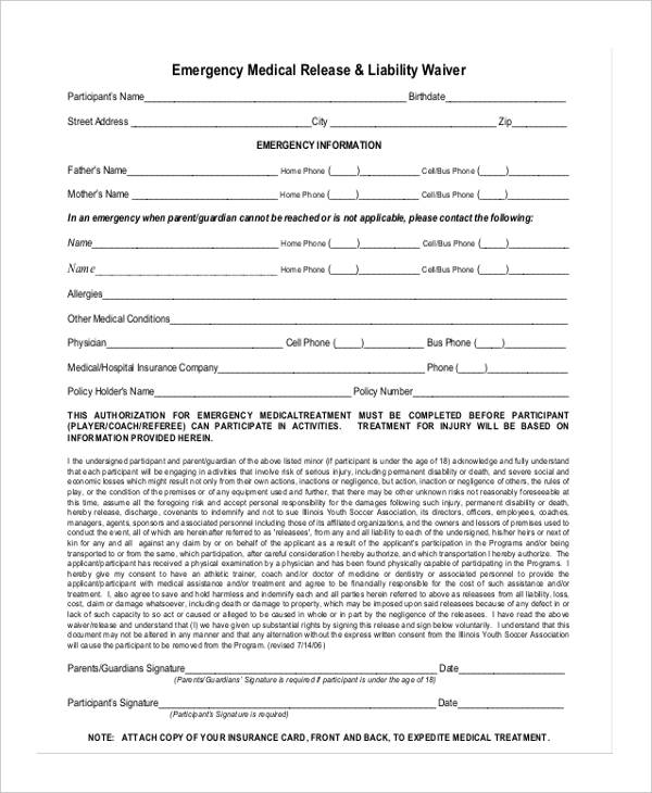 emergency medical release form1