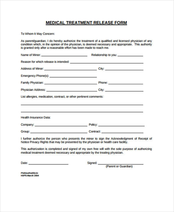 emergency medical treatment release form2