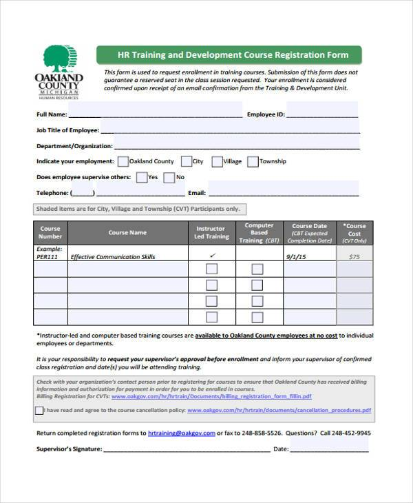 Sample hr registration forms 10 free documents in word pdf employee hr registration form thecheapjerseys Gallery