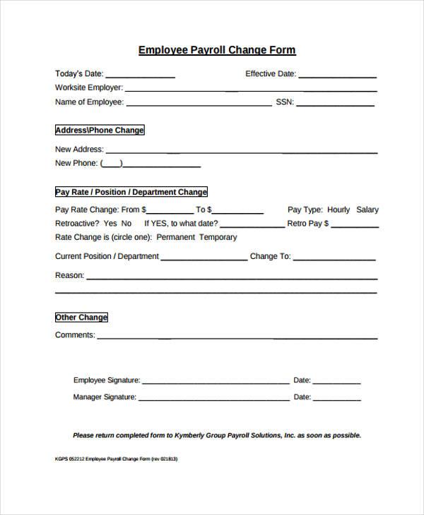 employee payroll change form6