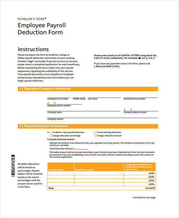 employee payroll deduction form3
