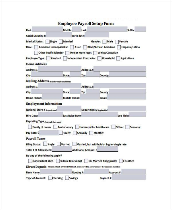 employee payroll setup form1