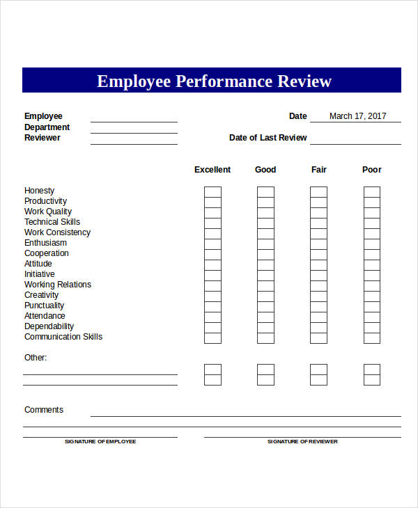 employee performance review form2