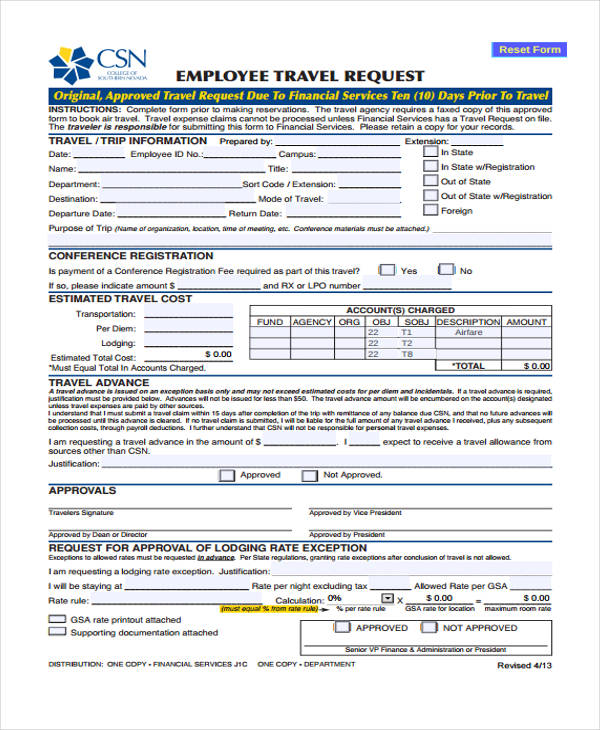 employee travel request form1