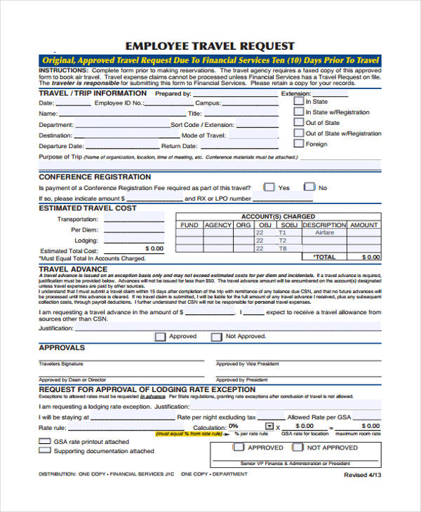 employee travel request form2