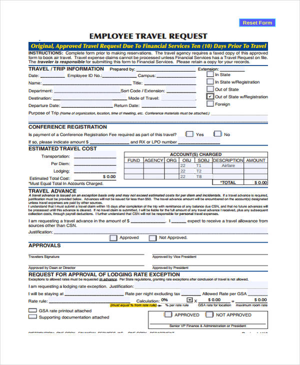 employee travel request form5