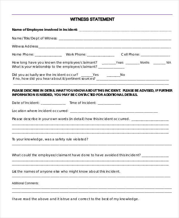 employee witness statement form2