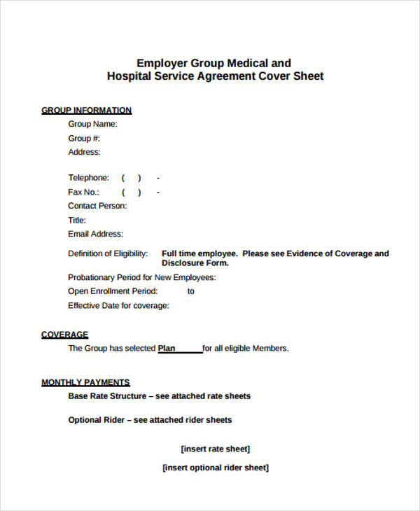 employer medical service agreement form