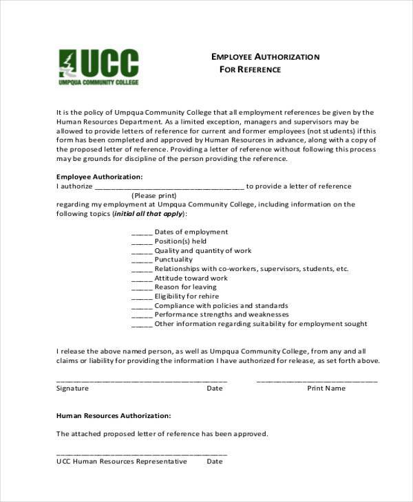 employment authorization reference form