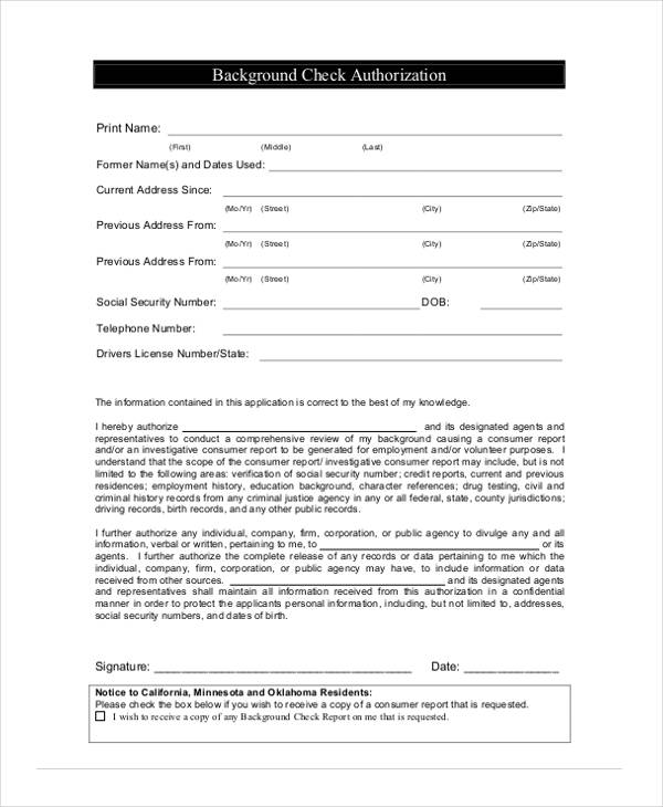 11+ Sample Employment Authorization Forms - Free Samples, Examples ...