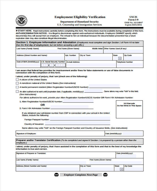 employment eligibility verification form1