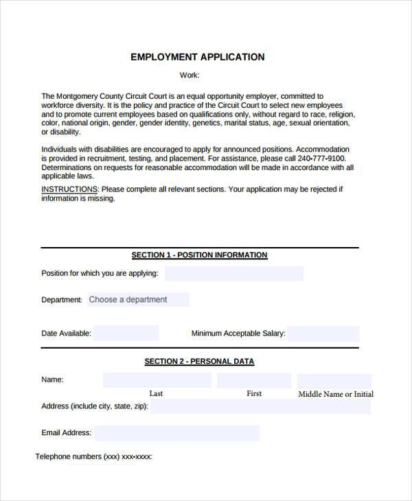target store employment application form