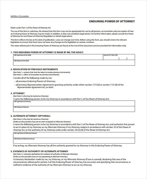 enduring power of attorney appointment form3