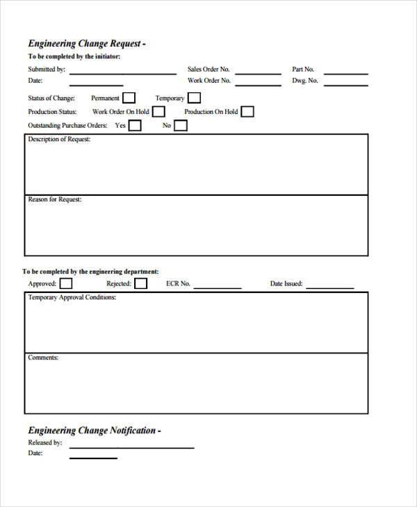 engineering change request form