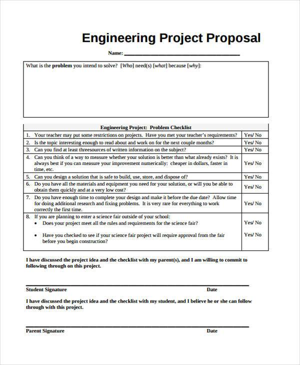 engineering project proposal form