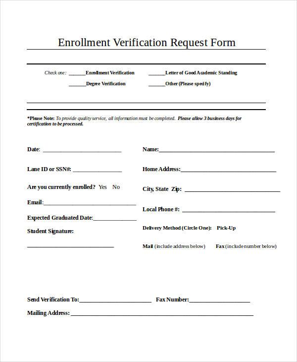 enrollment verification request form1