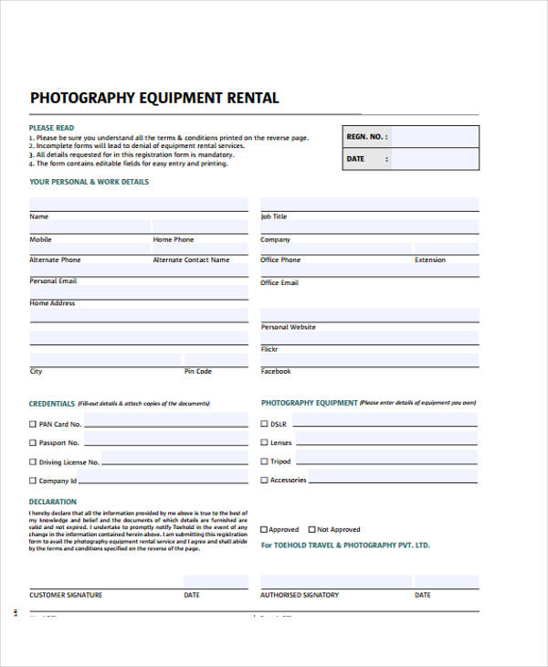 Printable Receipt Forms 41 Free Documents in Word PDF – Rental Receipt Form