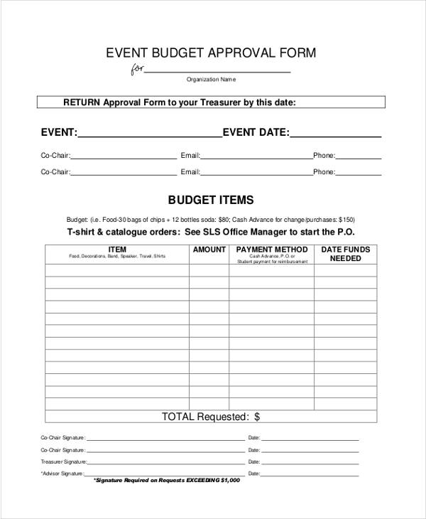 event budget approval form1