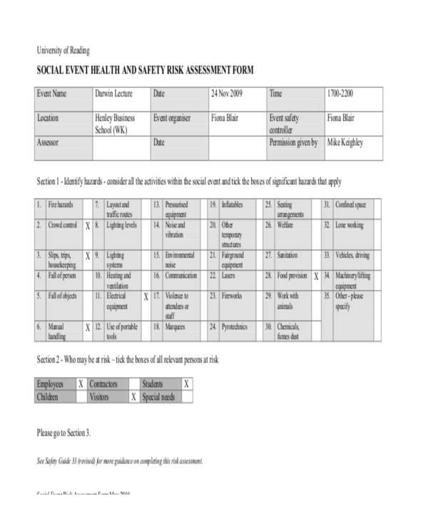 event health risk assessment form2