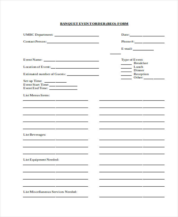 Free Event Forms - 32+ Free Documents In Word, Pdf