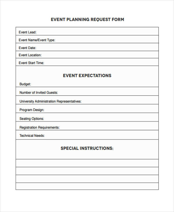event planning request form4