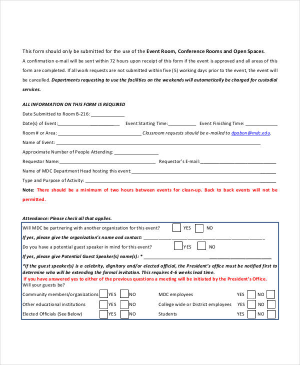 event planning request form5