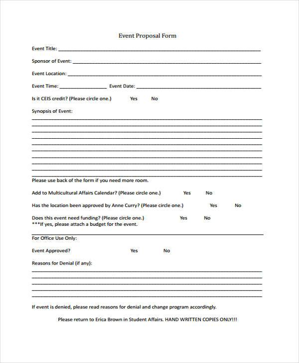 event proposal form example