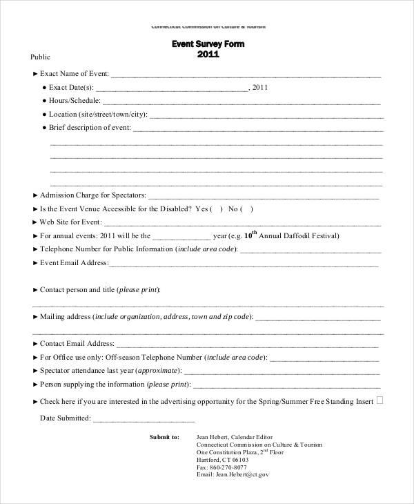 event public survey form1
