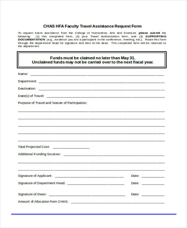 faculty travel assistance request form1